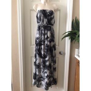 5/$20 H&M - Tropical Strapless Maxi Dress